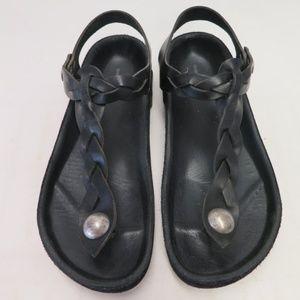 Isabel Marant Sandal Brook Black Braided Leather